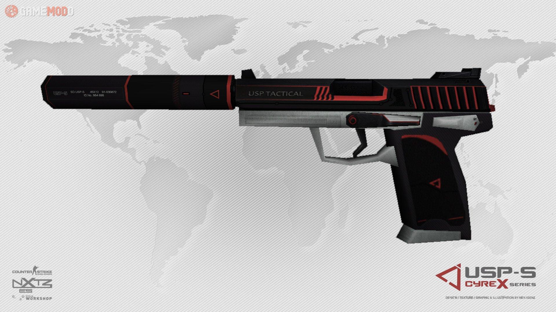 cs 1 6 skins weapons usp gamemodd