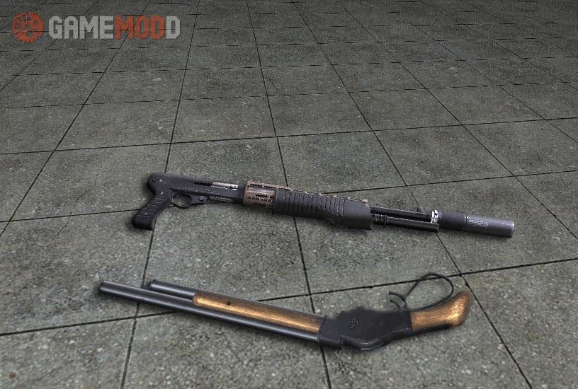 Akimbo Shotguns Spas 12 + Winchester Model 1887 » CS 1 6