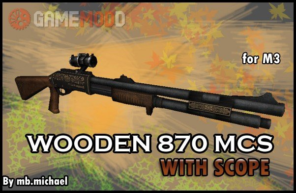 Wooden 870 MCS Scope for M3