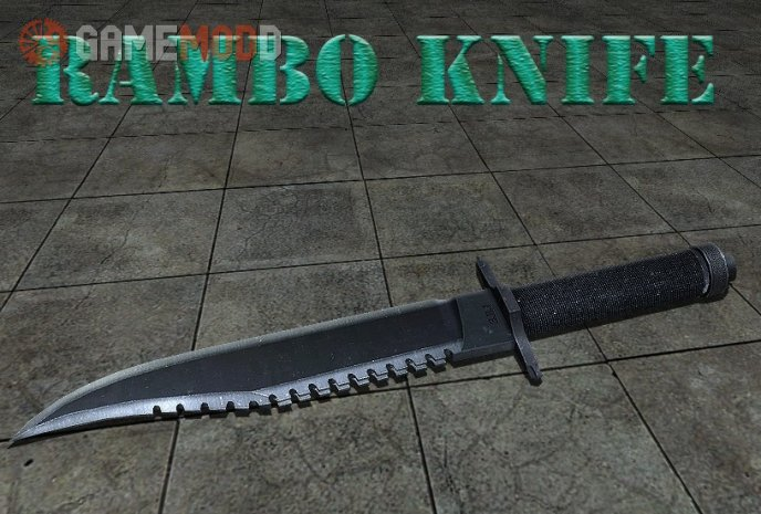 Rambo Knife With Mr.John Anims