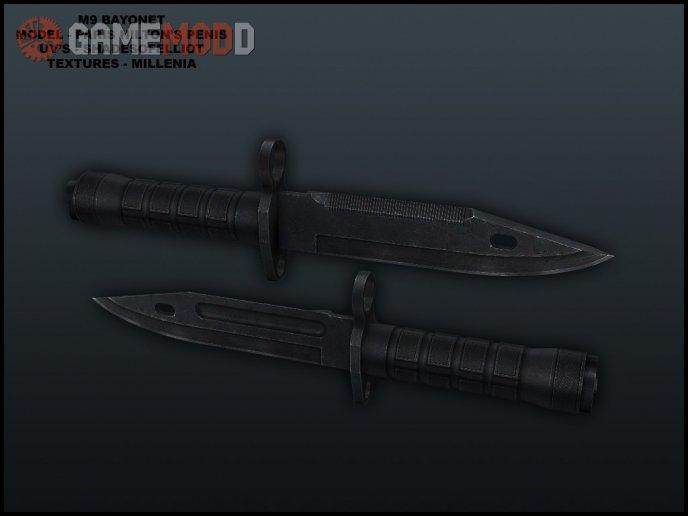 M9 Bayonet On Default Anims