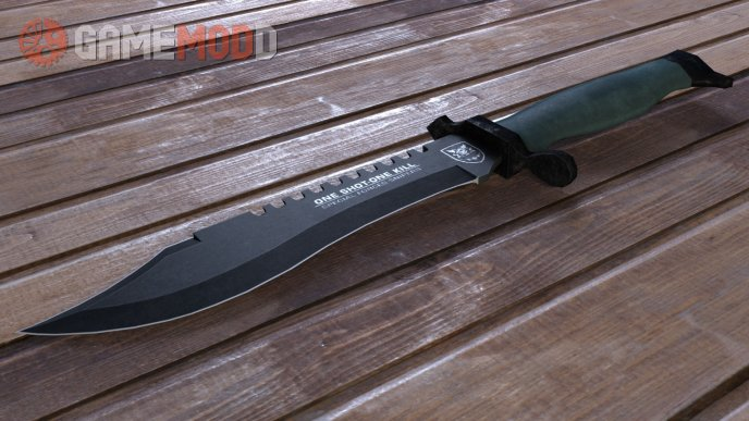 One Shot One Kill Survival Bowie Knife