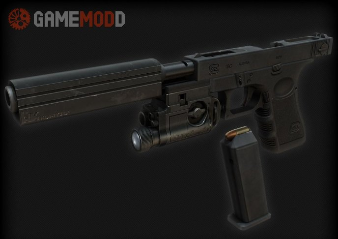 MW2 Style Tactical Glock 18 + Knife On Aonikenk's
