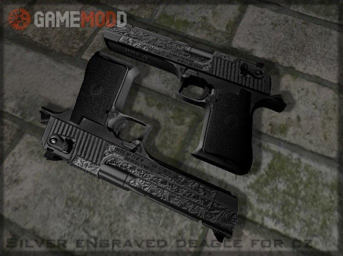 Silver Engraved Deagle On Sparkwire's Anims