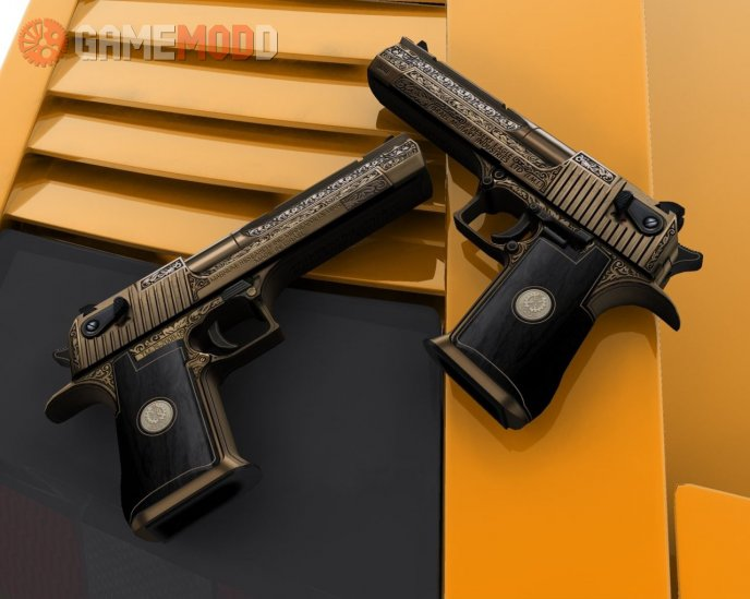 Gold Engraved Desert Eagle On Frizz925's