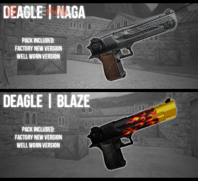Naga + Blaze on Firegold's DEAGLE (CSGO anims)
