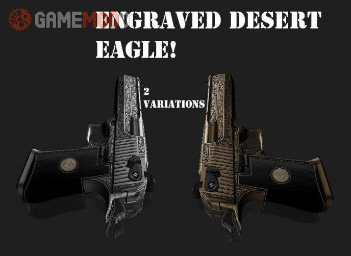 Dual Gold & Silver Engraved Desert Eagle