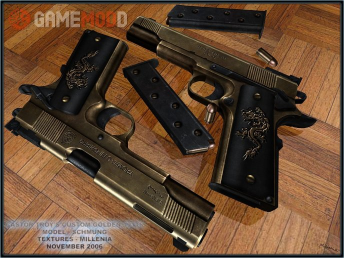 Castor Troy's Custom Golden 1911's On IIOPN