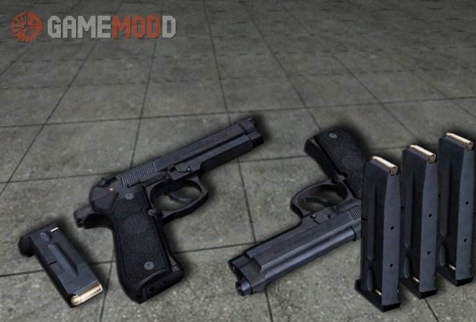 Dual Beretta M92 On Mak3ttaja Animations