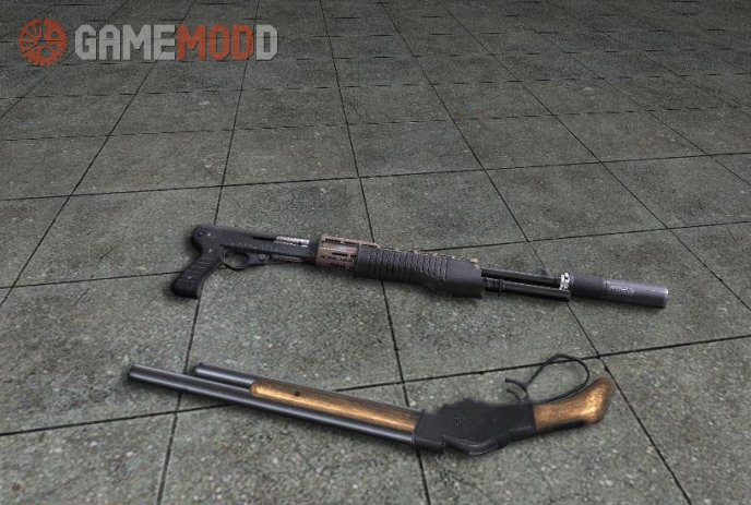 Akimbo Shotguns Spas 12 + Winchester Model 1887