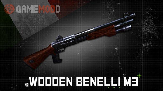 HD Wooden Benelli M3 Retexture