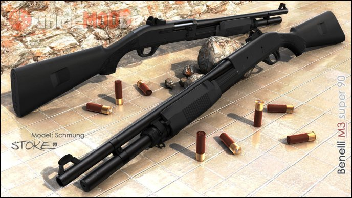 Benelli M3 Super 90 On Hyper3D