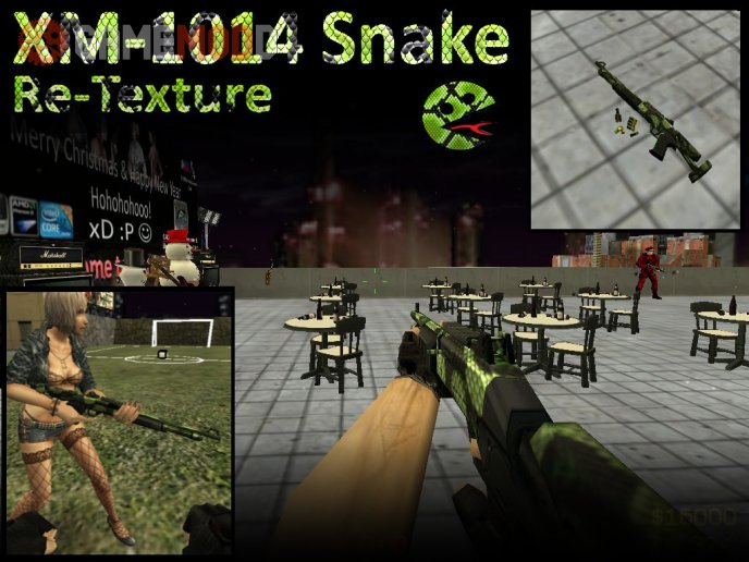 Def. XM1014 Re-textured Snake