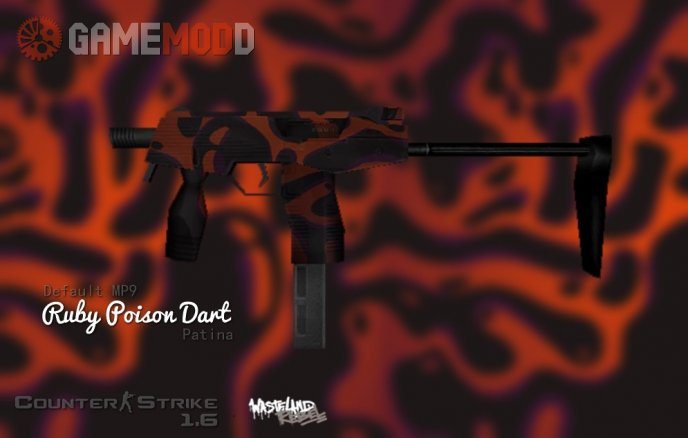 Default MP9 Poison Ruby Dart